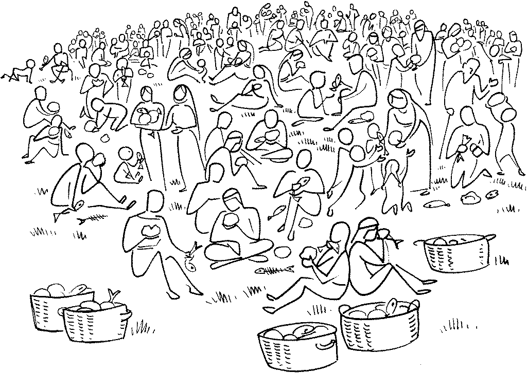 """Résultat de recherche d'images pour """"miracle des 5 pains et 2 poissons"""""""